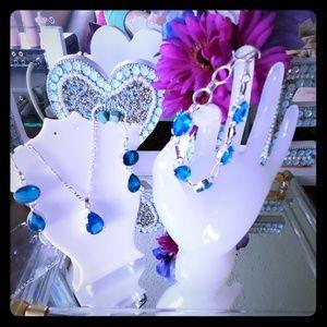 Jewelry - (NWT) Solid 925 Sky Blue Set